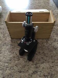 Vintage Microscope in Box
