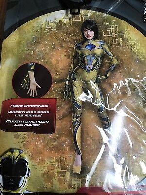 Yellow Power Ranger Halloween Costume (Saban's Power Rangers YELLOW RANGER Cosplay Halloween Costume Women Size S)