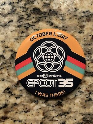 Epcot 35th Anniversary LIMITED EDITION Event October 1 2017 Button!!