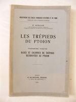 Las Trípodes De La Ptoion P Guillon 1943 Bases Y Columnas Arqueología Tomo 1 -  - ebay.es