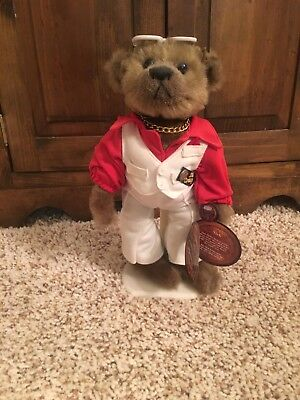"""Brass Button Bears """"Nick"""" 1970's 20th Century Collectibles ~ Fully Jointed"""