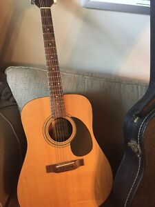 El Degas acoustic 6 string guitar and case