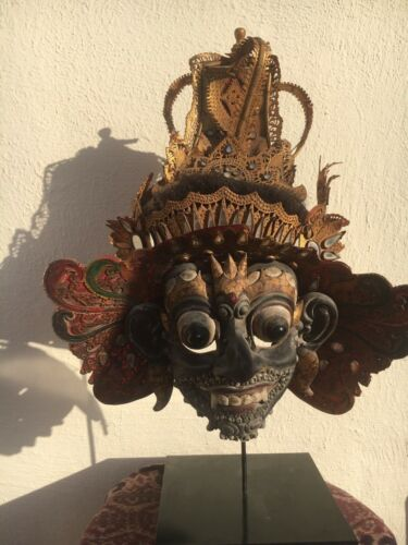 rare Balinese Topeng dance mask, wholly intact, 70-90 years old