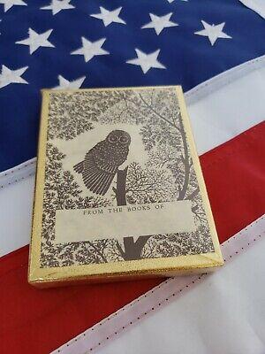 VINTAGE 1960'S EX LIBRIS ANTIOCH BOOKPLATES Owl