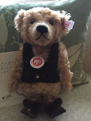 Steiff Teddy Bear with Slippers German Exclusive Rare & HTF