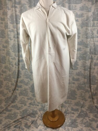 Antique Vtg French Chanvre Linen   Farmers Wine Workers Artist Smock Nightshirt