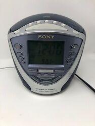 Sony Dream Machine ICF-CD843V Clock Radio Stereo AM FM CD R Weather Alarm 4 Band