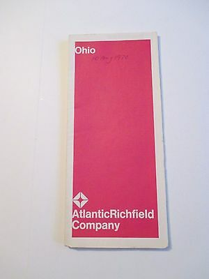 Vintage 1969 ATLANTIC RICHFIELD OHIO Gas Service Station Road Map