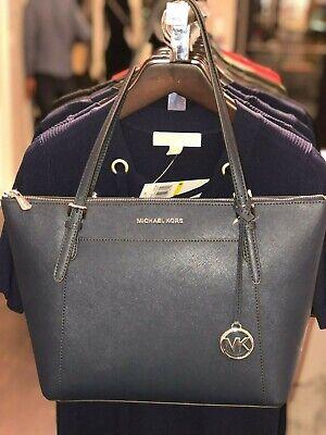 Michael Kors Women Lady Shoulder Tote Bag Handbag Messenger Leather Purse Navy