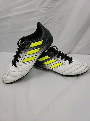 Adidas Boys Kid Youth USA Size 4 Soccer Cleats S77098 White and Neon Green