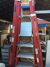 Red back Fibreglass electricians ladders Ocean Reef Joondalup Area Preview