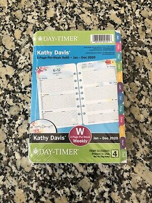 New Day-timer Kathy Davis 2020 Weeklymonthly Planner 8.5x5.5 Refill Size 4