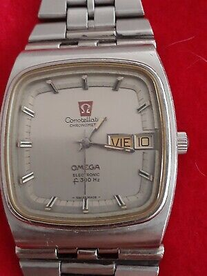 BEAUTIFUL VINTAGE OMEGA Constellation Electronic Chronometer F300Hz