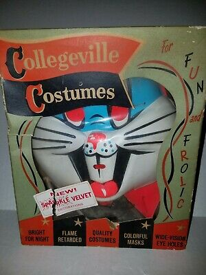 Vintage Bugs Bunny Collegeville Costume Halloween In Box Flame Fetarded Used A2