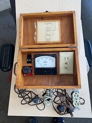 1pc Model 430 100vac Vintage Triplet Amp Meter Homemade Box And Equipment-bg45