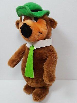 Vintage Plush Yogi Bear Hanna Barbara 1980 Green Hat Tie Stuffed Animal