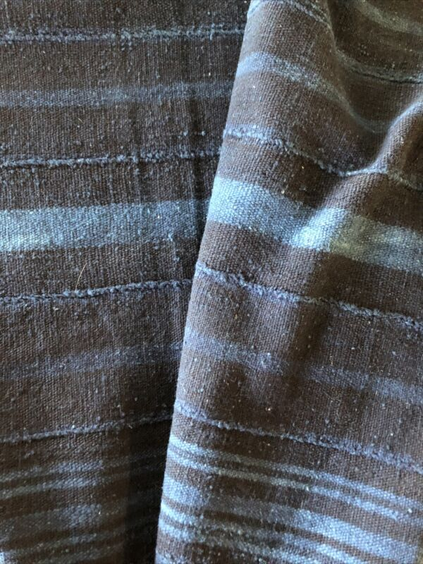 "Hand Woven & Dyed Strip Textile INDIGO MUD CLOTH Mali West Africa 58"" X 41"""