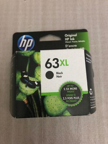 "HP 63XL High Yield Black Original Ink Cartridge  ""New Sealed"