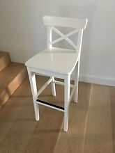 White barstool with backrest $20 ONO Roseville Ku-ring-gai Area Preview