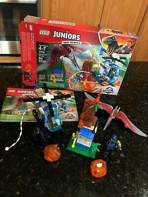 LEGO Juniors Jurassic World Pteranodon Escape 10756 - Park pterodactyl COMPLETE