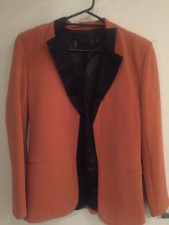 Blazer with silky lapel