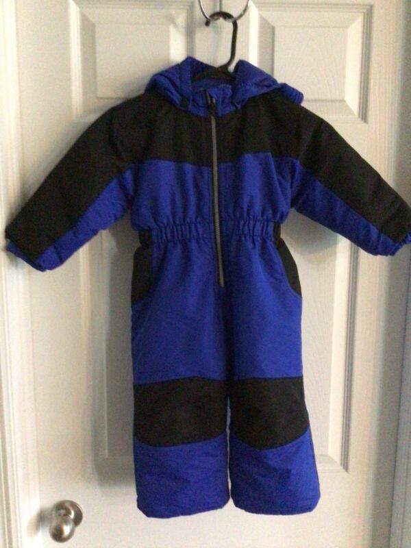 Healthtex Baby Toddler Boys 24 Months Hooded Bunting Snowsuit Blue Black