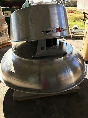Pennbarry Dx36b Centrifugal Roof Exhauster Fan Power Ventilator 36 Belt Driven