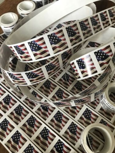 Купить 20 USPS Forever Stamps US Star Spangled Banner Flag Heart Postage Coil Sheet USA