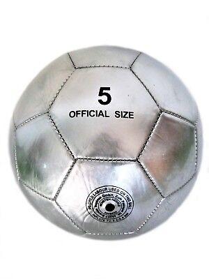 Pallone Da Calcio Calcetto Cromo Argento Light Da Collezione Nr 5 Beach Soccer