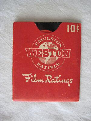 Винтажные книги Weston 1941 Emulsion Ratings