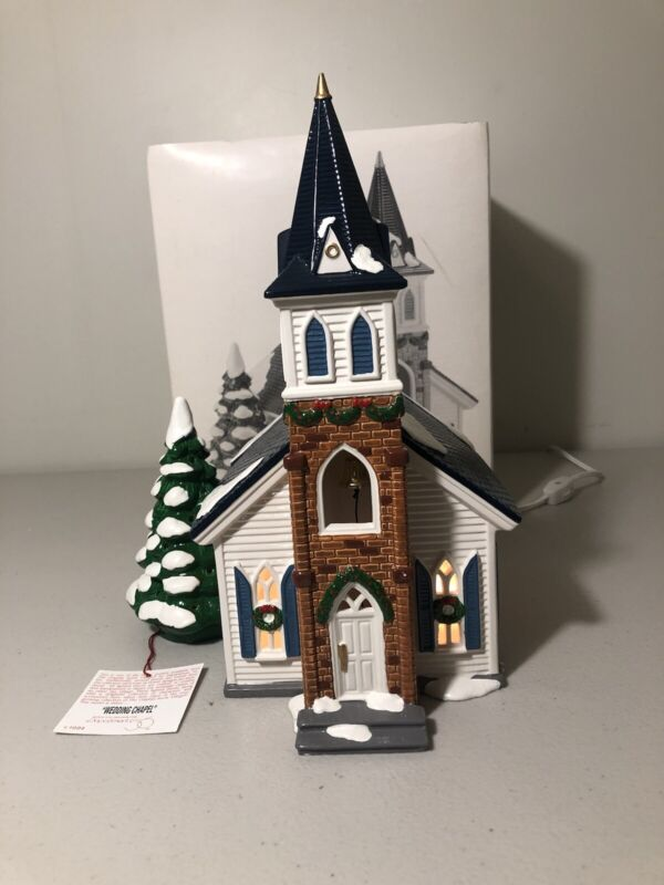 DEPT 56 The ORIGINAL SNOW VILLAGE WEDDING CHAPEL 5464-0 in ORIGINAL PACKAGING