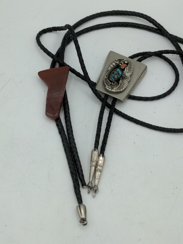 Vintage Bolo Ties Western Cowboy Style turquoise stones