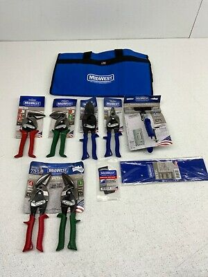 Midwest Hvac Tool Kit - 9 Piece Set Includes Aviation Snips Mwt-hvackit03