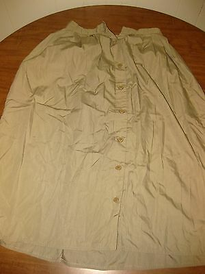 JORDACHE fashion vtg tan long skirt 1970s missing button horse logo disco size 9