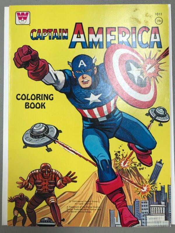 Whitman #1011 Captain America Coloring Book 1966 Marvel Comics UNUSED NM RARE
