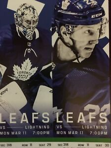 Toronto Maple Leafs vs. Tampa Bay Lightning- Mon. Mar. 11