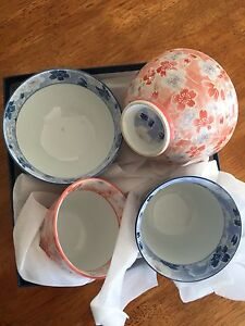 Japanese tea cups and bowls Everton Hills Brisbane North West Preview
