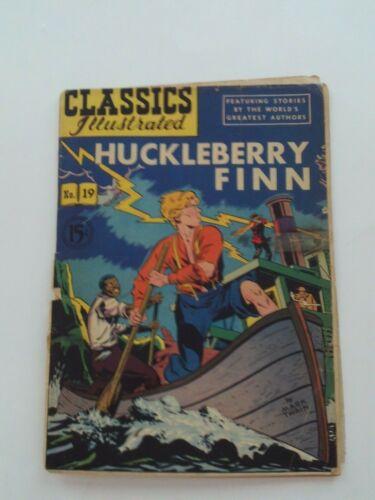 Classics Illustrated #19 - HUCKLEBERRY FINN - HRN  78 - VG