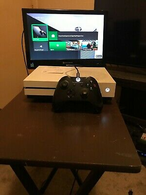 "500GB WHITE XBOX ONE S..""CONSOLE  CONTROLLER ONLY...NO CORDS.."