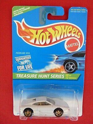 1996 Hot Wheels 435/1121 Treasure Hunt Ferrari F355 - White   1:64 Scale