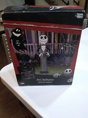 Inflatable Jack Skellington Nightmare Before Christmas Airblown Lighted 5 ft NEW