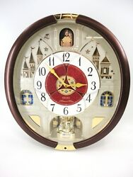 SEIKO MELODIES IN MOTION WALL CLOCK EXCLUSIVE 24 CLASSICAL POP HOLIDAY SELECTION