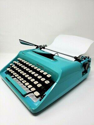 Remington Ten Forty Blue Turquoise Vintage Portable Typewriter Sperry Rand MCM