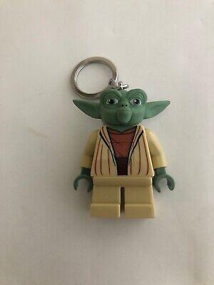LEGO Star Wars Mini Figure Yoda LED Flashlight Key Chain Torch  WORKS