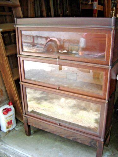 Antique Quarter-Sawn Oak Arts & Crafts Style 3-Stack Bookcase  476