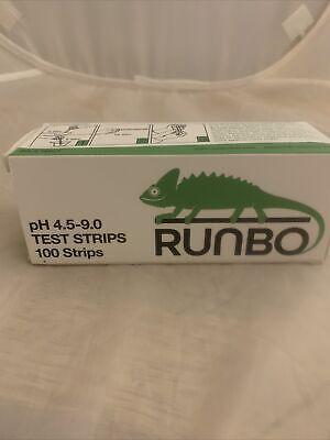Runbo Ph 4.5-9.0 Test Strips 100 Strips New