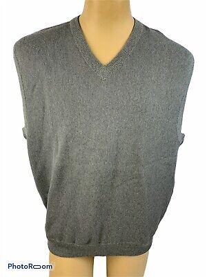 Izod Club Men's Vintage XL Sweater Vest Cotton Gray V-Neck
