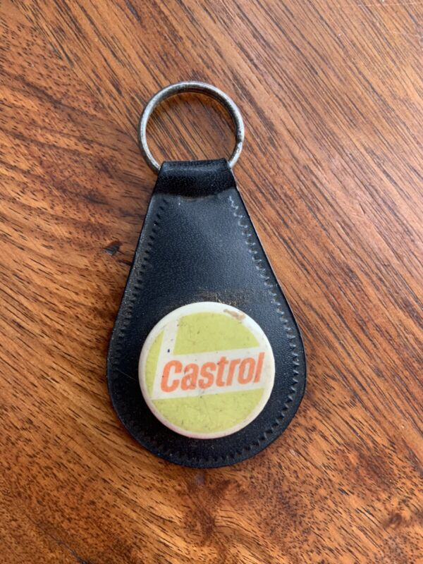 VINTAGE CASTROL MOBIL GTX COLLECTABLE KEY RING-1970's