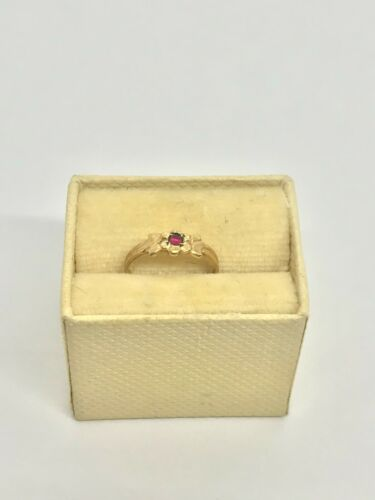 OB Antique 10k Yellow Gold Childs Ring