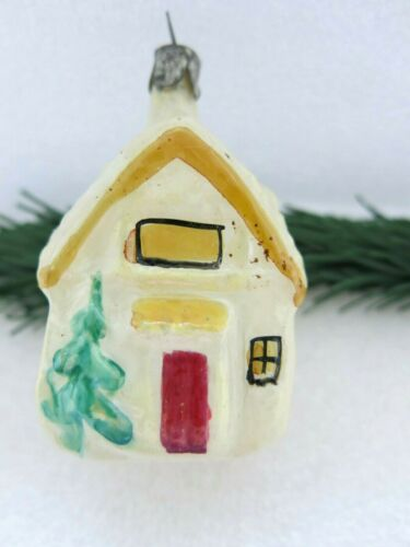 House Fir Pine Tree Vintage Soviet Russian Christmas Ornament Glass USSR